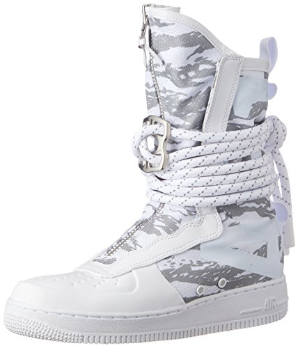 Nike Unisex SF Air Force 1 Winter Weiß Leder/Synthetik Stiefel 44.5 (Winter Stiefel Nike)
