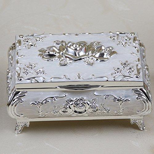 Julytong Box Geschenk Metall heiße Rosen kreative Princess Schmuckschatulle Hochzeit Geburtstag...