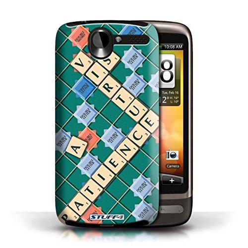 Kobalt® Imprimé Etui / Coque pour HTC Desire G7 / Coeur Chaud conception / Série Mots de Scrabble Patience Vertu