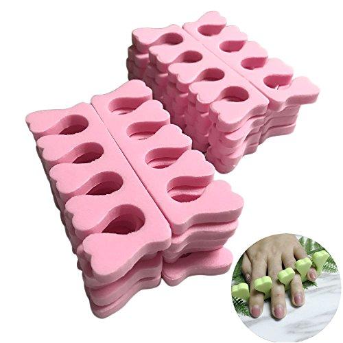 Frenshion 10 Piezas Espuma Suave Esponja Dedos Separadores Separador de Uñas Arte Manicura Pedicura Gel de Uñas herramientas