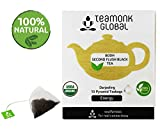 #8: Teamonk Darjeeling Organic Black Tea, 10 Teabags | 100% Natural Whole Leaf Pyramid Teabags from Himalayas | Bodh Second Flush Black Tea for Energy Booster | No Additives, USDA Organic Certified