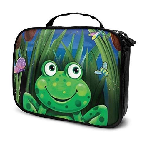 Lustiger grüner Frosch-Willkommens-Reise-Make-up sackt kosmetischen Fall-Organisator für Frauen ein