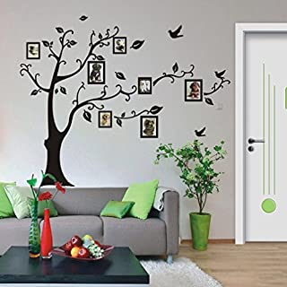 YUYOUG 3D DIY Photo Tree PVC Wall Decals Adhesive Family Photo Frame Tree Wall Stickers Mural Art Home Decor 50*70cm