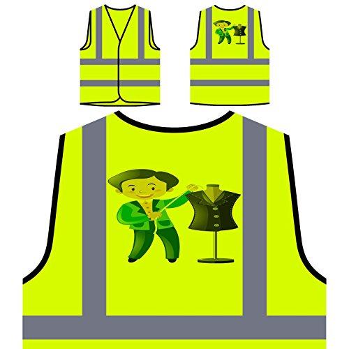 Amo novedad divertida del diseñador de ropa nueva Chaqueta de seguridad amarillo personalizado de alta visibilidad c915v