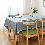 Steaean Tischdecke Einfarbig Tischdecke Baumwolle Leinen Hause Wohnzimmer Rechteckigen Tee Tischdecke Tischset Restaurant Westlichen Essen Matte Kann Größe Angepasst Werden, 130 * 130 cm