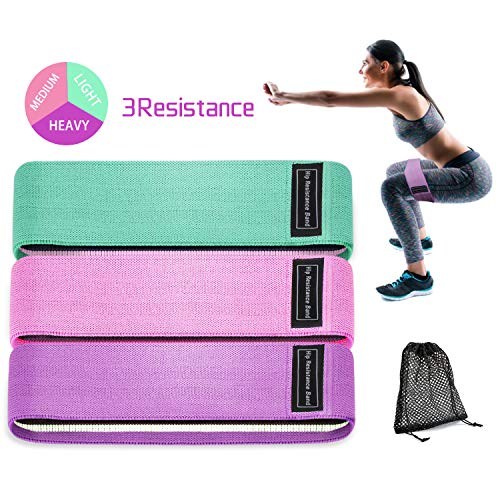 Acokki Resistance Hip Bands Booty Bands Anti-Rutsch Circle Fabric Strength Bands for Leg and Butt Workout Program 3er-Pack