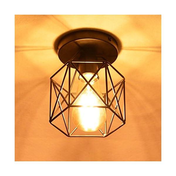 NUODIFAN-Vintage-Deckenleuchten-Retro-E27-Lampenfassung-Leuchtmittel-Metall-Lampenschirm-Deckenlampe-Semi-Flush-Mount-Pendelleuchte