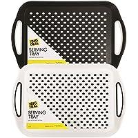Infeni LTD Juego de 2 bandejas de plástico Antideslizantes con Superficie de Goma de Alta adherencia