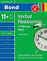 New Bond 10 Minute Tests Verbal Reasoning 10-11+ Years by Frances Down (2014-04-01)