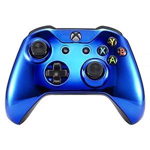 eXtremeRate Hülle für Xbox One S/X, Case Hülle Schutzhülle Gehäuse Cover Schale Zubehör Set für Xbox One S/Xbox One X Controller-Modell 1708(Grün Transparent)