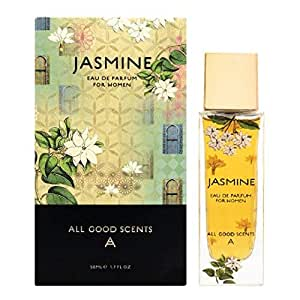 All Good Scents Jasmine Perfume for Women (EDP), 50 ML/1.7 Fl Oz Scent for Women, Eau De Parfum, Fragrance made in France, Long Lasting Body Perfume for Women, Free from Animal Products & Cruelty Free