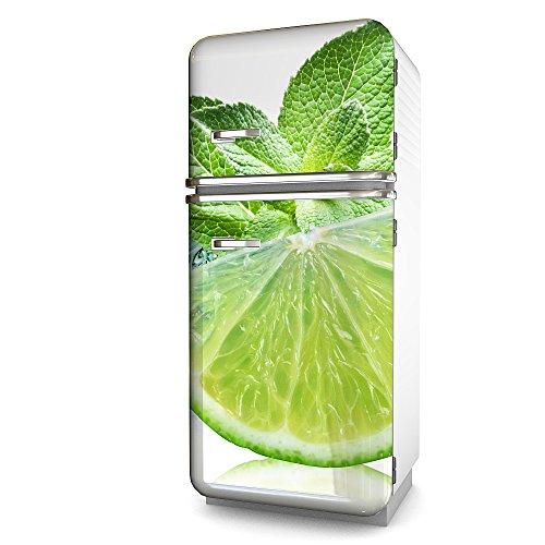 Kühlschrank-Folie Limone selbstklebend mehrere größen | Sticker-folie | Klebefolie | Kühlschrank-Aufkleber | Front-folie | Dekoration | Küche | Deko-folie | Möbel-folie | Vinyl-folie