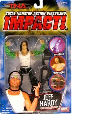 TNA: Impact Series 2 > Jeff Hardy (White Tank Top) Action Figure by Toy Rocket -