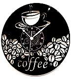 Horloge Murale en Vinyle Cadeau Fait Main Décorations Pour la Maison Home Office Coffee Cafè