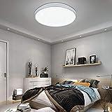 VINGO® 12W Deckenleuchte kaltWeiß Sternenhimmel Wohnzimmerlampe Küchenleuchte Deckenbeleuchtung Panel Lüster Ultraslim Schlafzimmer Esszimmer energiesparend