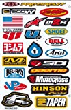 Sponsors Hoja Racing Decal Sticker Tuning Racing Tamaño: 27 x 18 cm para el coche o la moto