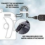 USA Gear Kameragurt für Spiegelreflexkameras: DSLR Schultergurt aus Neopren mit Zubehörtaschen und Quick-Release-Schnallen, Bohemian-Muster Test