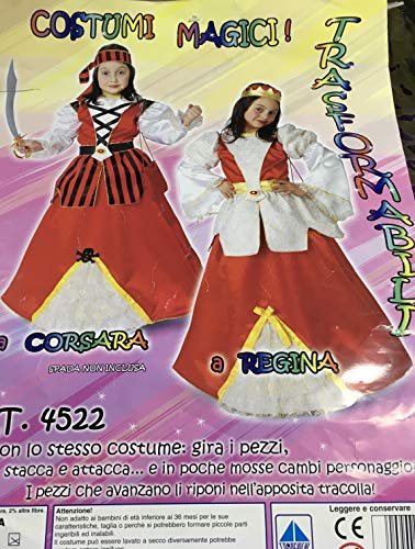 Kostüm Corsara - COMOGIOCHI Kostüm TRASFORMER CORSARA in Regina TG.5/6 Jahre