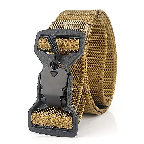 S.lux cintura intrecciata in nylon, cintura casual con fibbia magnetica ad alta traspirabilità e asciugatura rapida per sport e caccia all'aria aperta cintura militare (marrone)