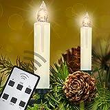 Homelux 40 LED Weihnachtskerzen Christbaumkerzen Weihnachtsbeleuchtung Warmweiß Fernbedienung Kabellos - 10/20/30/40er Set - DEUTSCHER HÄNDLER