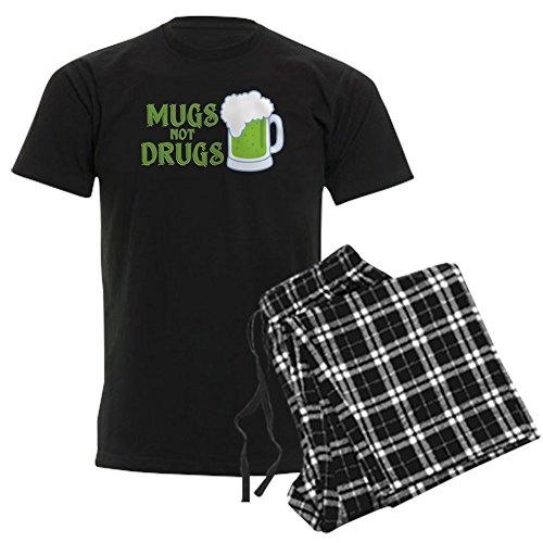 CafePress Mugs Not Drugs - Unisex Novelty Cotton Pajama Set, Comfortable PJ Sleepwear