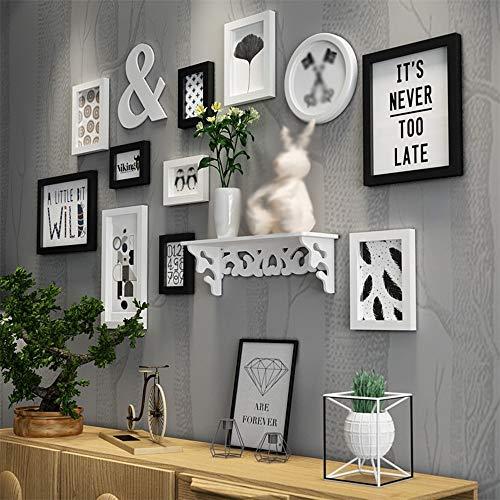 Esszimmer Sammlung Sammlung (WZAlbum Fotorahmen Kombination Europäischen Holz Bild Wand Fotorahmen Galerie Schlafzimmer Esszimmer Wand Sammlung Flur Wohnzimmer Dekoration (Color : A))