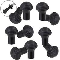 ALPIDEX 10 Unidades / 5 par de conteras para bastón de Marcha nórdica Taco de Goma para Asfalto y Piedra - Compuesto de Caucho Especialmente desarrollado