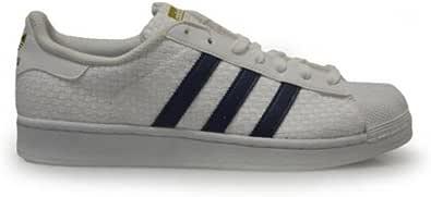 adidas Mens - Superstar - White Blue - BA8493