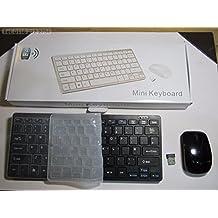 Sans fil noire Mini clavier et souris pour Panasonic Viera Tx-l55dt65b Smart TV
