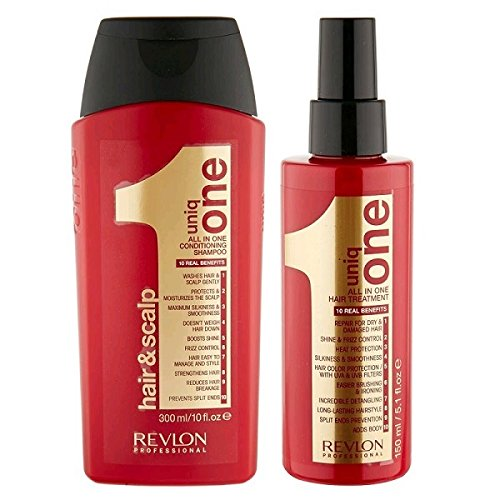 Revlon Uniq One Duo Pack Revlon Uniq One Conditioning Shampoo 300 ml/Revlon Uniq One All In One Hair Treatment 150 ml