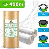 400 M - ECO Recarga compatible Sangenic Tommee Tippee | Angelcare para pañales | equivalente 24 cajitas Sangenic | 32 Angelcare | Producido en Europa + rollo de cartón para rellenar fácil