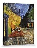 1art1 Vincent Van Gogh - Terrasse des Cafés An Der Place Du Forum In Arles Am Abend, 1888 Poster Leinwandbild Auf Keilrahmen 50 x 40 cm