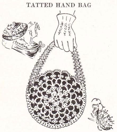 Tatted Hand Bag Purse Tatting Pattern (English Edition) -