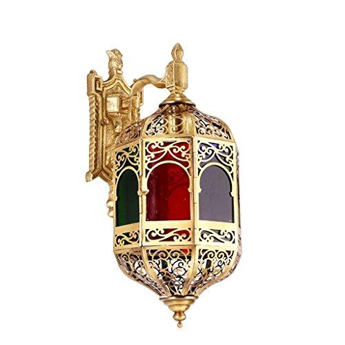 Guo lampe simple mur lampe de mur de cuivre lampe de cuivre de luxe moderne et de cuivre All-style américain avec lampe de mur vide
