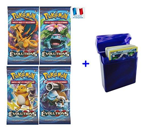 Série Carte Pokemon EVOLUTIONS XY12 en français - Offres aux choix avec 1 cadeau bonus (Lot de 4 boosters)