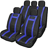 Wheels N Bits PU Leather Seat Cover Set Blue 74 Universal Pu Leather Type Car Seat Covers Full Set