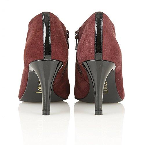 Lotus pour femme en daim Kari Bordo/brillant Lotus Chaussures Bottes Rouge - rouge