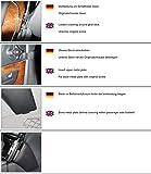 KUDA Telefon Konsole passend für MB E-Klasse (W211) ab 03/02 & 06/06 Mobilia/Kunstleder schwarz