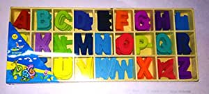 Small Wooden ABCD Alphabets---26x5 Letters---Wooden Alphabet Pack Uppercase---Beautiful Colours---DIY---Craft---Learn---Pre School
