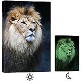 Cuadro en Lienzo Startoshop, fotoluminiscente lienzo,pinturas murales, Decoración, El Rey León 1, Categoría Animales, 60 cm x 90 cm