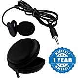 Drumstone Mini Lavalier Lapel Mic Microphone For Cameras Recorders, Pcs With Zip Case Round Shape Multipurpose Pouch Bag For Coins, Earphones & Usb Cable Compatible With All Smartphones (One Year Warranty)