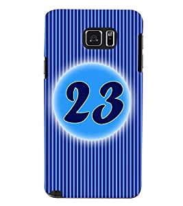 Fuson 3D Printed Numerology Designer back case cover for Samsung Galaxy Note 5 - D4243