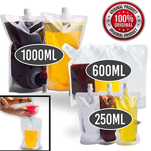 Sneaky Flask Cruise Kit | Schmuggel Alkohol überall! | Sneak Schnaps, Schnaps, Rum und mehr | 8 nicht erkennbare versenkbare Plastikbeutel