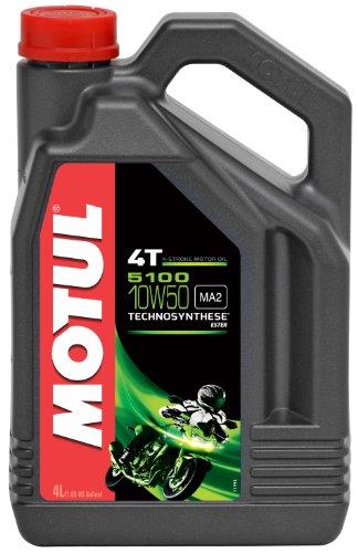 Motul 104076 5100 4T Huile pour moto à moteur 4 temps 10W-50 4L pas cher