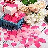 confetti Valentine's Day Heart Shape Tissue Confetti 1000 Pcs / 10-15 grm Paper Table Confetti for Valentine's Day, Wedding P