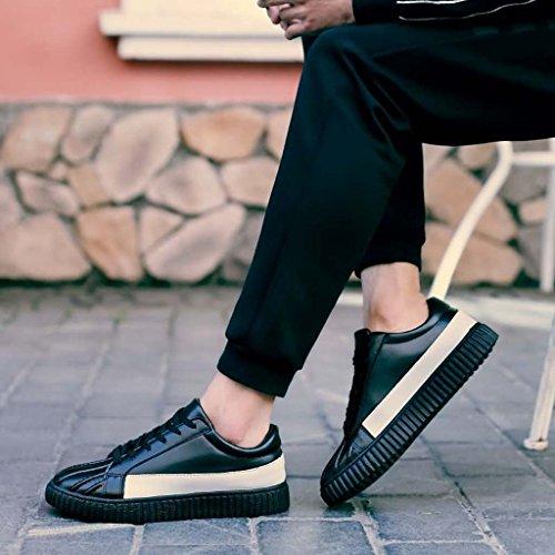 ZXCV Scarpe all'aperto Trend Inghilterra Uomo Moda Casual Youth Skateboarding Scarpe basse per aiutare le scarpe da uomo Nero