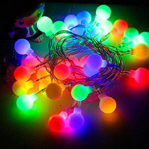 LONJY Sterne Lichterketten 10M/32ft 100-er LED Lichterkette (Ball Multi-color) (Lichterkette Multi-color)