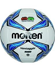 Molten f5 v3850 Ballon de Football Blanc/Bleu/Argent, 5–f5 v3850