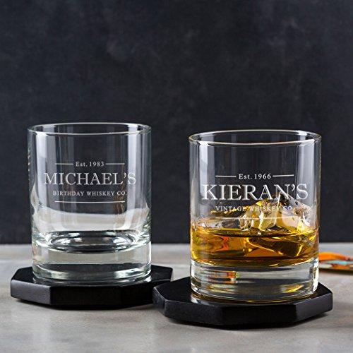 Whiskey Glas mit Gravur - Whisky Geschenk - 18 Geburtstag Junge - personalisierte Geburtstagsgeschenke für Männer