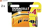 24x Duracell MN2400 Plus Power AAA Triple A Size Remote Battery Batteries